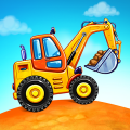 Truck games for kids - build a house, car wash Game