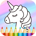 Unicorn Coloring Book Game