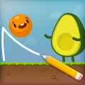 Where's My Avocado? Draw lines Game