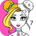 Girls Coloring Book - Color by Number for Girls Game