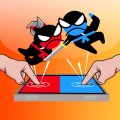 Jumping Ninja Battle - Two Player battle Action Game